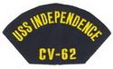 USS Independence Ballcap Patch