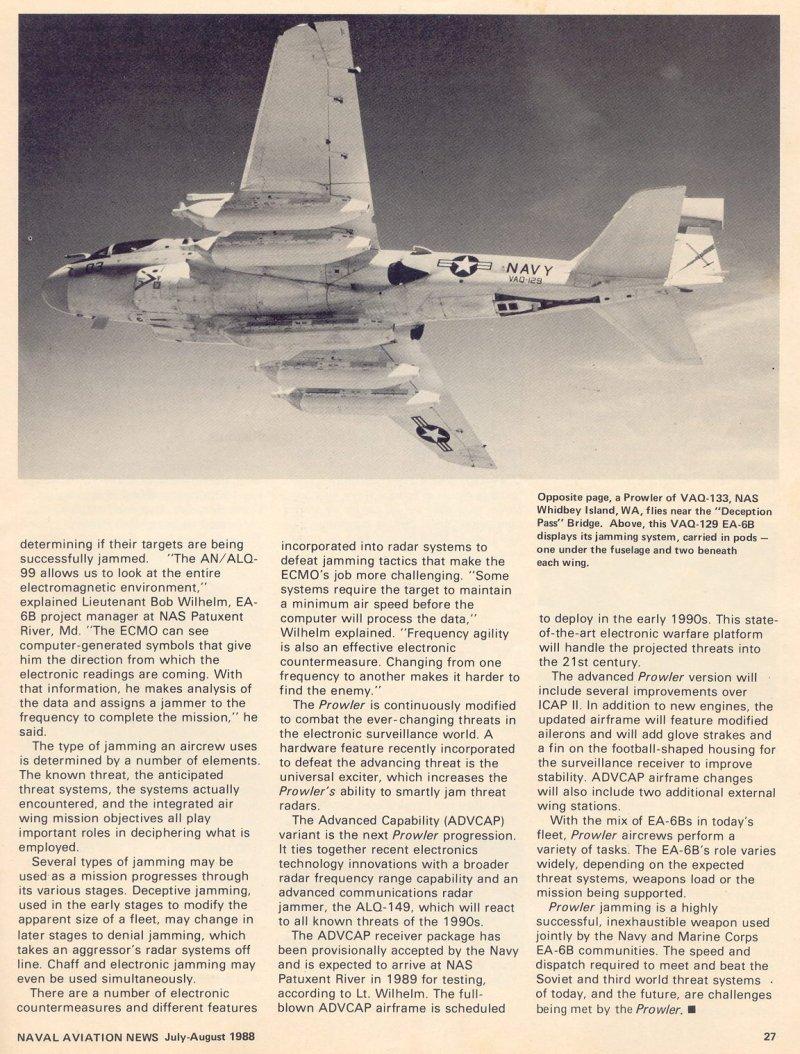 Grumman A-6 Intruder y EA-6B Prowler Jamming-004b